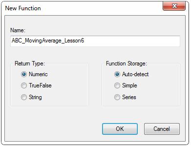Creating functions window
