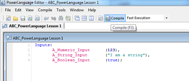 Compile a study in PowerLanguage image