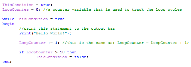 loop with boolean evaluation condition image