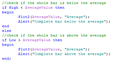 Bars above and below an average image