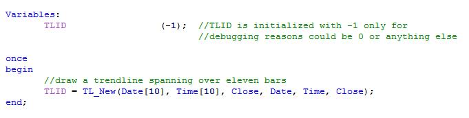 basic trendline code image